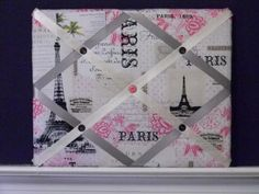 11 x 14 Paris Memory Board by naptimepillowsnmore on Etsy