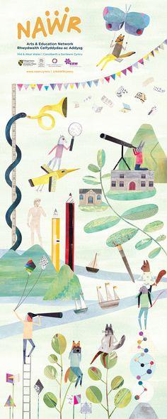 Lianne Harrison Illustration Banner Illustration Commission for NAWR Arts & Education Network www.lianneharrison.com