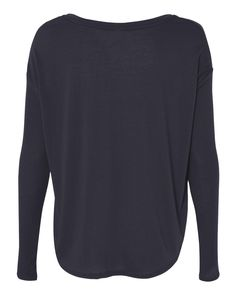 Bella + Canvas 8852 - Women's Flowy Long Sleeve Tee with 2x1 Sleeves - Wholesale and Bulk Pricing Available