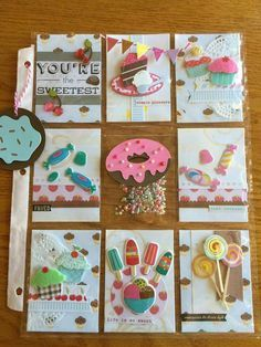 Sweets Pocket Letter Pocket Pal, Pocket Cards, Pocket Scrapbooking, Scrapbook Cards, Pocket Envelopes, Atc Cards, Paper Crafts, Diy Crafts, Candy Cards