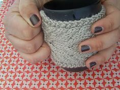 Paper Sensei: Knitted Cable Mug Cozy Pattern because sometimes your mug needs a sweater.