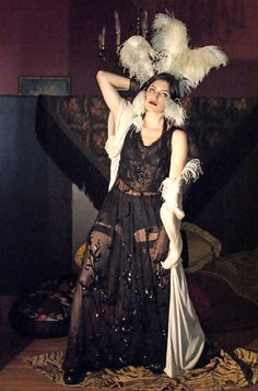 The Boudoir Queen — Authentic Museum Quality Edwardian Net and Sequin Gown Art Deco Fashion, Retro Fashion, Fashion Design, Style Fashion, Black Planet, Sequin Gown, Textiles, Vintage Bohemian, Festival Outfits