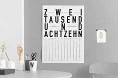 Combatting the chaos and creating an overview: with our new yearly calendar of the DIN Berlin line you will surely never forget important dates again. Kitchen, hall, or office - the possibilities for