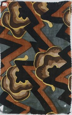 Textile by the Wiener Werkstätte, 1910–28, Silk. This is one of my favourites.