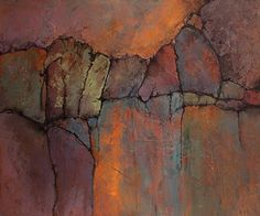 "CAROL NELSON                                           FINE ART BLOG: Abstract Geologic Landscape Art ""Ancient Mysteries..."