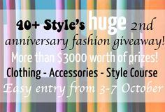 Join the 40+Stye giveaway for more than $3000 worth of prizes. NOW ON!