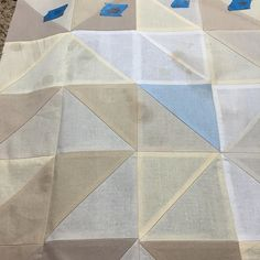 jamiemswanson's photo: HELP! My iron decided to go crazy and suddenly spit out rusty water that has left stain spots all over this section. Is there any way for me to get it out? I am so sad about this. :( of course it happened in the light colors where it's super obvious. #quiltersofawesome #quilts #simplyminiswap #schnitzelandboominiquiltswap  You can use a mixture of equal water and equal vinegar, spray onto the stained areas  Then lay a white thin cloth over top of the sprayed area and…