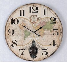 duży zegar ścienny w stylu vintage