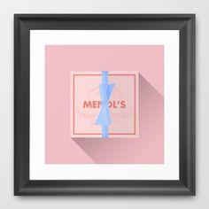 The Grand Budapest Hotel · Mendl's Pâtisserie box Framed Art Print