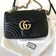 An early Christmas present to myself came in the mail today!! I can't decide...keep this Gucci leather bag OR return and get the Saint Laurent velvet version?? ❤️ http://liketk.it/2pDHW @liketoknow.it #liketkit #instafollow #jewelry #dress