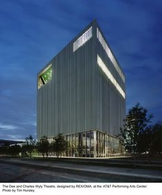 Dee and Charles Wyly Theatre / REX | OMA, beautiful facade by the firm I'm going to see in Buenos Aires.