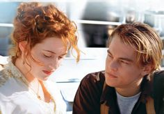 Rose DeWitt Bukater and Jack Dawson, as portrayed by Kate Winslet and Leonardo DiCaprio in Titanic Leonardo Dicaprio Kate Winslet, Leonardo Dicaprio En Titanic, Kate Winslet And Leonardo, Young Leonardo Dicaprio, Film Titanic, Titanic Photos, Rms Titanic, Best Drama Movies, Great Movies