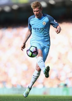 Kevin De Bruyne of Manchester City in action during the Premier League match…