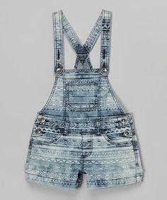 Another great find on #zulily! Light Blue Diamond Shortalls #zulilyfinds