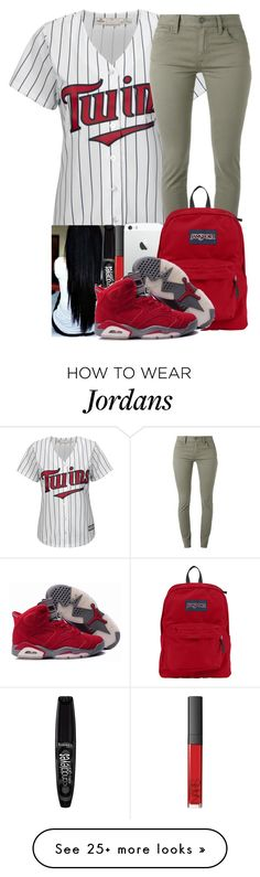 """""""Untitled #4668"""" by rosie321 on Polyvore featuring moda, Majestic, Burberry, Aime, Rimmel, NARS Cosmetics e JanSport"""