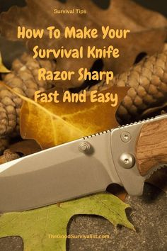 Survival Tips-Good demonstration, of showing how to easily sharpen the blade of your survival knife and the proper way of doing it, without messing up the edge.