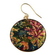 4120-4 - Green/Purple Floral Earring originjewelry.net