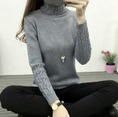 New Women Cashmere Warm Sweater Female Winter Knitted Turtleneck Sweaters and Pullovers Long Sleeve Pull femme oversized sweater