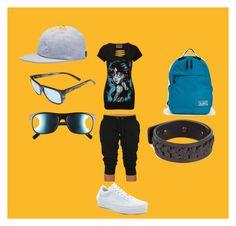 sportswear.. by marcia-naftal on Polyvore featuring Vans, Revo, Rick Owens, NIKE, women's clothing, women's fashion, women, female, woman and misses