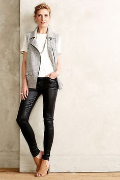 Coated High Rise Jeans