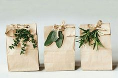.natural wrappings...beautiful!