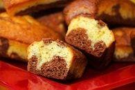Mini marbrés au chocolat