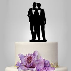Topper gâteau gay pour mariage, haut de forme même sexe gâteau, topper palefreniers de cadeau unique wedding cake topper silhouette gay gâteau de mariage haut de forme pour les hommes