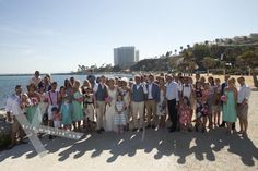 With such a backdrop, how could you resist a full group shot? Destination wedding photography by Kris Mcguire. Sunset Beach Club, Group Shots, Kaiser, Destination Wedding Photographer, Great Photos, Wedding Planner, Ireland, Backdrops, Dolores Park