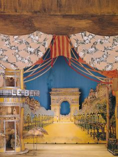 Beautiful miniature (I think) set design by Joseph Urban from the book by John Loring