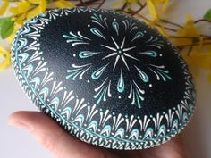 Items similar to Emu Egg Wax Embossed Pysanka, Drop-Pull Hand Decorated Emu Egg, Pysanky in Natural Green Color on Etsy Egg Crafts, Easter Crafts, Emu Egg, Polish Easter, Carved Eggs, Easter Egg Designs, Ukrainian Easter Eggs, Easter Sale, Easter Parade