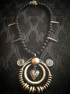 Heart of the Tribe. Maio Tribal Necklace by ShopGoatFeathers, $64.00