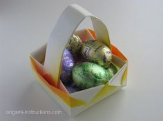 Origami easter basket tutorial