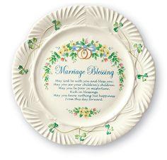 """Belleek's Keepsake """"Marriage Blessing"""" Plate"""