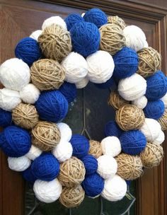 Check out this item in my Etsy shop https://www.etsy.com/listing/257819549/royal-blue-white-and-twine-rustic