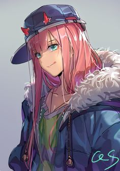 Darling in the Franxx, Zero Two, by Qiongsheng Anime Ai, Chica Anime Manga, Fanarts Anime, Anime Characters, Anime Girl Neko, Anime Art Girl, Manga Girl, Anime Girls, Estilo Anime