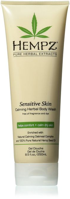 Hempz Sensitive Skin Herbal Body Wash, Off White, 8.5 Fluid Ounce * Want additional info? Click on the image. (Note:Amazon affiliate link)