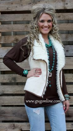 Use the discount code GUGREPKCAR for 10% off your entire order at www.gugonline.com! Fashion Forward Fur Vest in Ivory