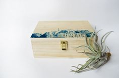 DECORATED wooden BOX with Paris cyanotype by StunningInstants