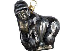 Gorilla Glass Christmas Ornament