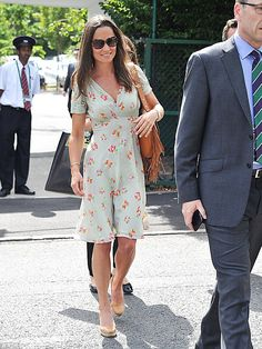 And relax: 31-year-old Pippa was seen enjoying a day out at Wimbledon this afternoon...