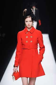 Lindsey Wixson at Moschino Fall 2012, February 24th; (Moschino my ultimate favorite designer besides Chanel.