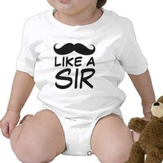 Funny Mustache Like a Sir Baby Creeper