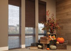 These dark brown providence shades look great in the fall and every with season, style or decor.