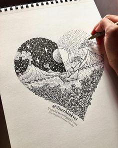 "visothkakvei Original ""Journey of Love"" E-Mail (visothkakvei @ gmai . - Emma Fisher Zeichnungen zu malen visothkakvei Original ""Journey of Love"" E-Mail (visothkakvei @ gmai …) zum Rein … – Pencil Art Drawings, Doodle Drawings, Art Drawings Sketches, Doodle Art, Easy Drawings, Zentangle Drawings, Detailed Drawings, Love Drawings, Tattoo Sketches"