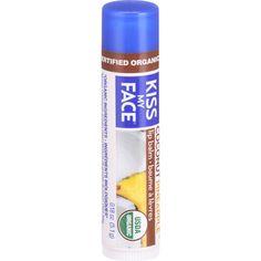 Kiss My Face Organic Lip Balm - Coconut Pineapple - .18 Oz - Case Of 24