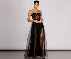 dolce  gabbana netted illusion bustier tulle dress in