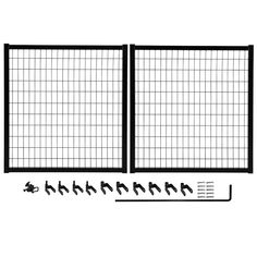 Add curb appeal to your home by installing this durable YARDGARD Select Powder-Coated Steel Double Drive Fence Gate Kit. Aluminum Fence Gate, Metal Fence Gates, Steel Fence Panels, Garden Fence Panels, Wrought Iron Fences, Fencing, Fence Art, Diy Fence, Aluminum Metal