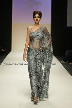 Silver Chantilly Lace Sarees Saree Dubai