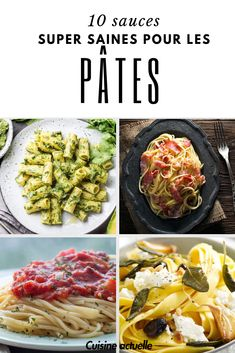 10 super healthy sauces for your pasta - Recipes Easy & Healthy Healthy Sauces, Healthy Sweet Snacks, Good Healthy Recipes, Gourmet Recipes, Snack Recipes, Diet Recipes, Recipes Dinner, Dinner Ideas, Cheap Clean Eating