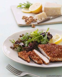 Walnut-Crusted Chicken Breasts. This is an easy, delicious recipe. Love it!!!